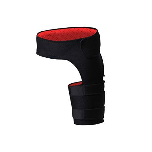 EXCEART Abrazadera de Compresión de Cadera Fitness Envoltura Ciática Soporte de Pierna Ajustable para Alivio Del Dolor de Ciática Alivio Del Dolor de Cadera Negro