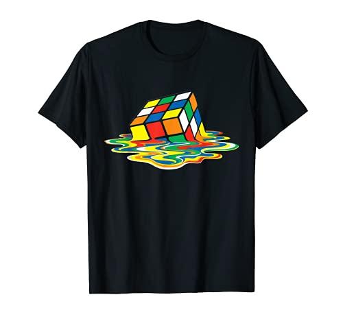 Melting Rubik's Cube T-shirt, 10 Colors available
