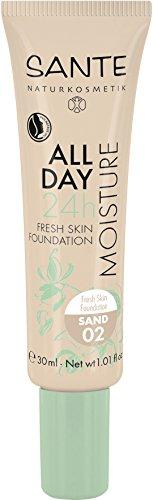 Sante Cosmetici naturali All Day Moisture 24h Fresh Skin Foundation, Hydro Depot, vegan (30ML)