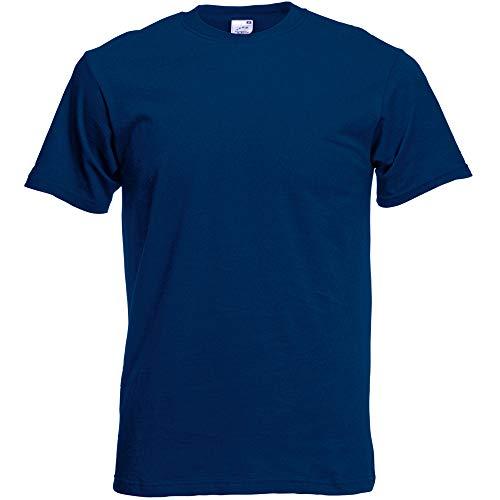 Fruit of the Loom Screen Stars T-Shirt à Manches Courtes pour Homme Coupe intégrale Bleu Marine Taille XXL