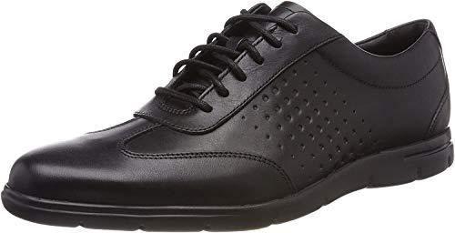 Clarks Vennor Vibe, Zapatos de Cordones Derby para Hombre, Negro (Black...
