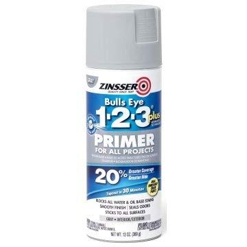 Zinsser Plus Gray Bulls Eye 1-2-3 Primer Spray Paint, Package of 6