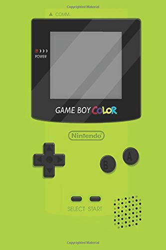 """Game Boy Color: Green Gameboy Color 2 Wide Ruled Notebook, Journal for Writing, Size 6"""" x 9"""", 110 Pages"""