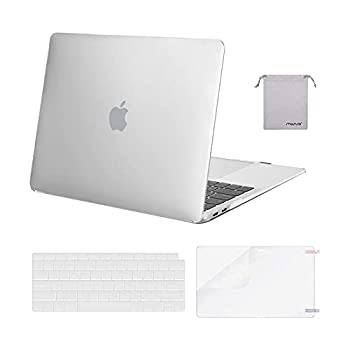 MOSISO Compatible with MacBook Air 13 inch Case 2020 2019 2018 Release A2337 M1 A2179 A1932 Retina Display Touch ID Plastic Hard Shell&Keyboard Cover&Screen Protector&Storage Bag Frost
