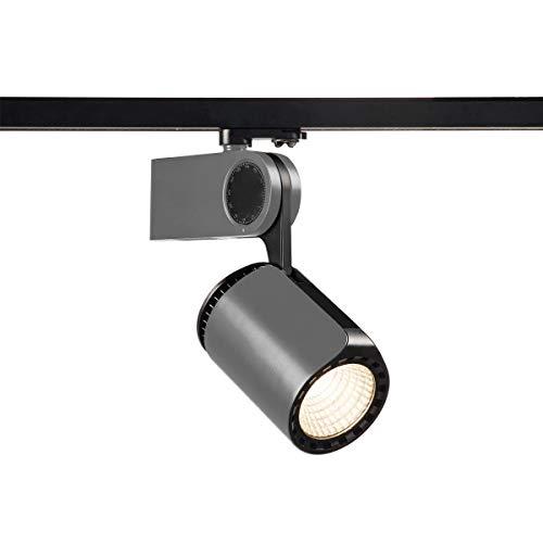 LED-spot Dancer, zilvergrijs/zwart, 3000 K, railadapter, 3 ontstekingen, inclusief