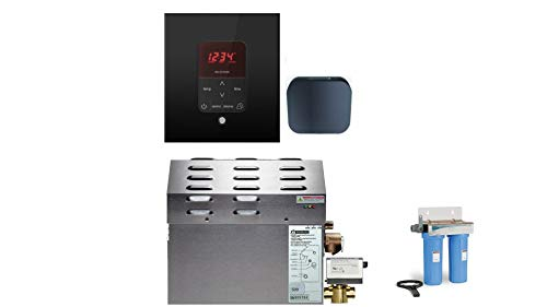 Best Bargain Mr Steam - Steam Bath Generator Package in Square Black Finish with Automatic Flush Val...