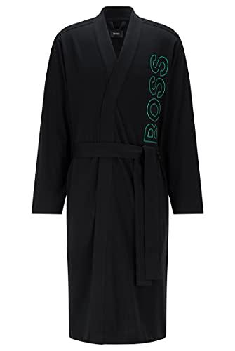 BOSS Herren Identity Kimono Morgenmantel aus Schwerer Baumwolle mit umrissenem Logo