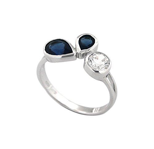 Bijoux pour tous anillos Mujer plata Plata de ley (925/1000) circón talla ovalada
