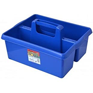 Wham Colourful Plastic Handy Kitchen Cleaning Tool Utility Caddy Storage Tidy (Blue)
