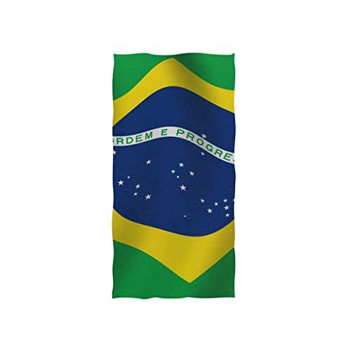 MNSRUU Toalla de mano, varias toallas de mano, bandera de Brasil, para baño, gimnasio, playa y spa