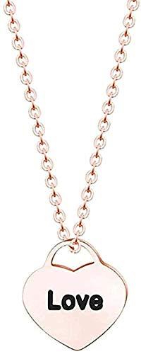 banbeitaotao Collar Joyas de Acero Inoxidable Collar con Colgante de corazón de Amor Regalo de Dama de Honor para Mujer