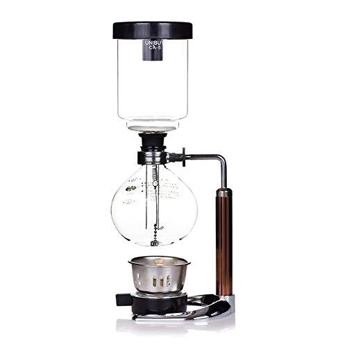 Coffee Syphon - Vacuumkaffeebereiter 3 Tasse Siphon Topf Kaffeemaschine Set Filter Kaffeekanne Teekanne Set