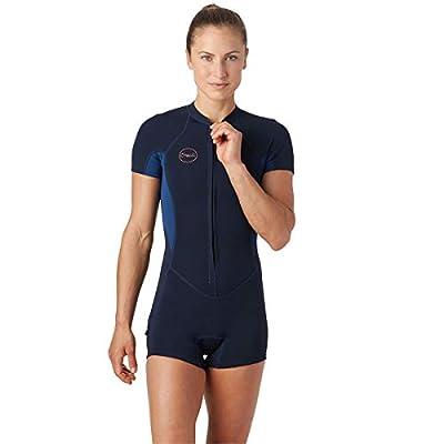 O'Neill Wetsuits Women's Bahia Full Zip Short Sleeve Spring