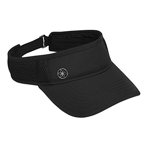 Gaiam Women's Visor Hat - Performance Mesh Outdoor Ball Cap, Dry Fit Sweat Headband, Pre-Shaped Bill, Adjustable Size (Running, Baseball, Sun, Hiking, Yoga, Golf, Tennis, Sports & Fitness) - Black