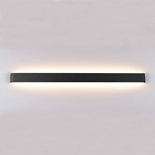 Klighten LED Wandlampe Innen 30W, 91cm Moderne Wandbeleuchtung, Up und Down IP44 Wandleuchte für Schlafzimmer, Wohnzimmer, Treppen und Badezimmer, Warmweiß 3000K, Schwarz