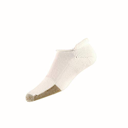 Thorlos Herren T Tennis Thick Padded Rolltop Socken, Weiß (White 004), Large