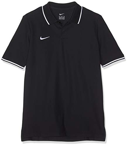 NIKE Y Polo TM Club19 SS Camiseta, Unisex niños, Black/(White), L