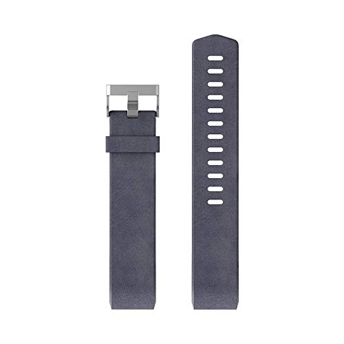 Fitbit Charge 2, Braccialetto in Pelle Unisex-Adulto, Indaco, Large
