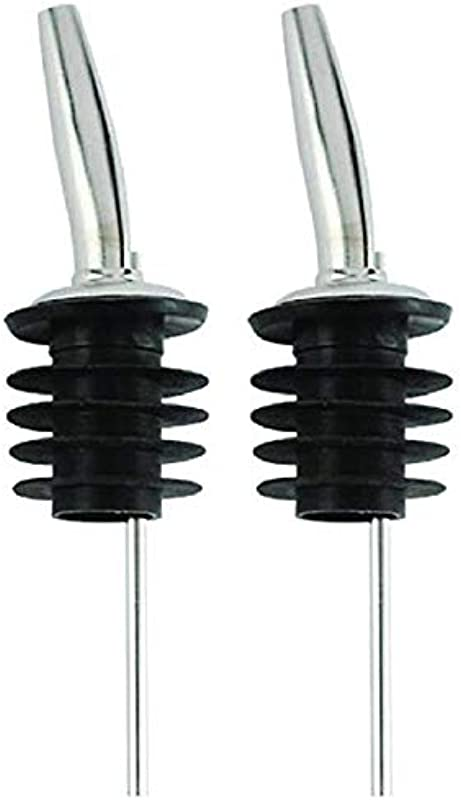 Set Of 2 Stainless Steel Oversized Pourer Fits Patron Bottle W Signature Party Picks
