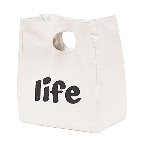 クーラーバッグ ランチバッグ おしゃれ トートバッグ 保温 ランチバッグ 男女兼用、子供にも 無臭 食品 収納 軽量 お弁当袋 (ベージュ)