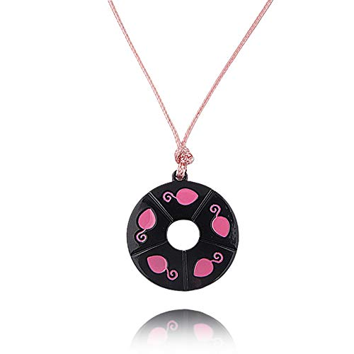 Feidiao Ladybug Maus Halskette Halsreif Marienkäfer Chat Noir Cosplay Kostüm Kinder Schmuck Rosa Anhänger für Mädchen Frauen Fandom Geschenk