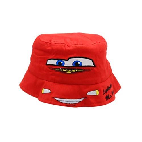 Cars Lightning McQueen Kinder Sommer-Mütze Fischer-Hut, Größe:50