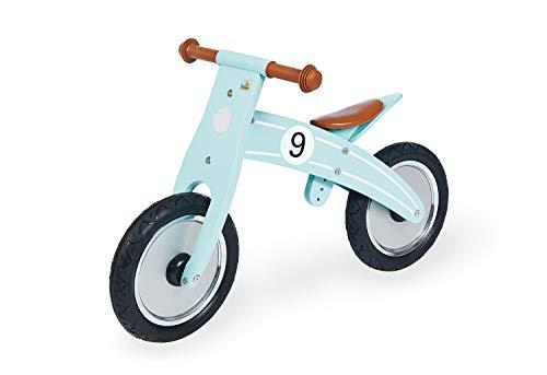 Pinolino 239478 Laufrad Nico, Laufrad Holz, unplattbare Bereifung, umbaubar vom Chopper zum Laufrad, empfohlen ab 2 Jahren, mint