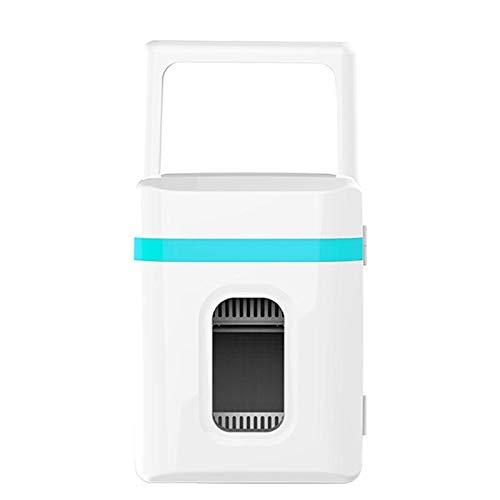 LIXUDECO Mini Nevera Mini refrigerador pequeño 10l refrigerador de Coches 12V Puerta de una Sola Puerta hogar de Doble Uso termoeléctrico Mini refrigerador Calentador (Color Name : Blue Bar)