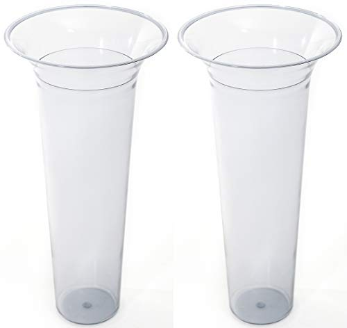 Novaliv Bodenvaseneinsatz 31,5x15 Kunststoffeinsatz für Bodenvase (2, 31,5x15)