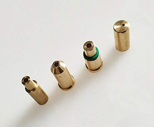 BAAQII 4 in 1 Set Gasnachfülladapter Feuerzeug für S T Dupont Feuerzeug Ersatzteil Zubehör Gelb/Rot/Grün/Blau Kappe