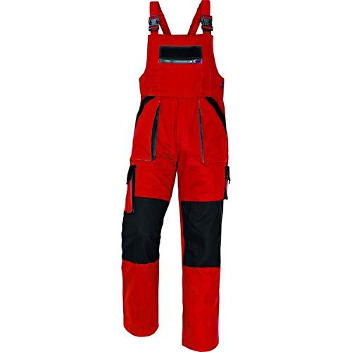 CERVA Max Arbeitslatzhose für Herren - robuste Arbeitshose für Männer aus Baumwolle Größe 46, Farbe Rot/Schwarz