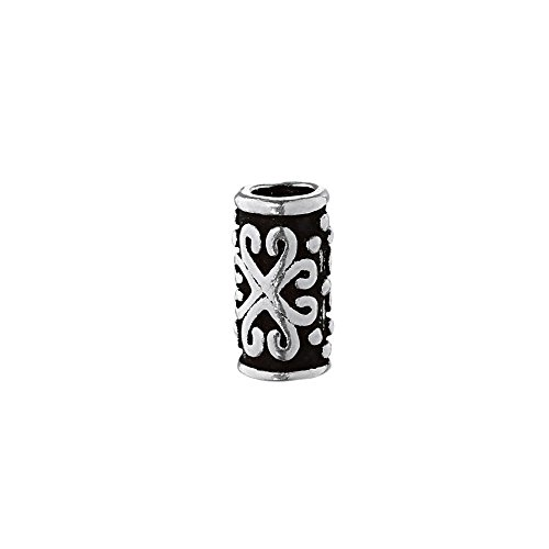 NKlaus Haarschmuck Bartperle ZARA Mittelalter Perle 925 Sterlingsilber Silber Lockenperle 6394