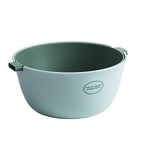 KEPEAK Reinigungsbehälter für Gemüse/Obst, Multifunktionaler Obstkorb, Hohles Design, Abnehmbares Doppelschichtiges Abflussbecken, Saubere Lagerung von Küchenbedarf