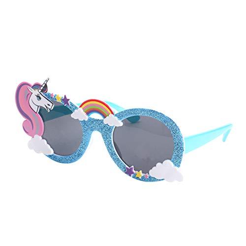 Unicornio divertidos Hombres Mujeres gafas de sol para niños adultos la celebración de días Accesorios de ojos Use lentes