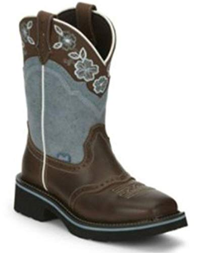 Justin Ladies Gypsy Starlina Boots 7.5 B Blue