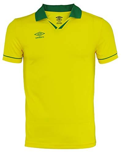 Umbro Mens Johnny Collar Ss Jersey Cyber Yellow/Verdant Green Size XXL