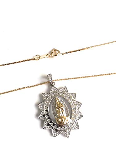 La Virgen de Guadalupe Silver Plated Medal Necklace Catholic Jewelry for Women