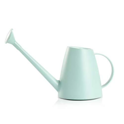 Teshee Plastic Watering Can 0.48 gallon/60 oz Small Watering Can Long Spout Watering Can Easy Pour Watering Can for Indoor Outdoor Plants Flower Bonsai(Light Green)