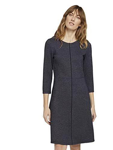 TOM TAILOR Damen 1024014 A-Shape Kleid, 25967-Navy Structured Design, 34