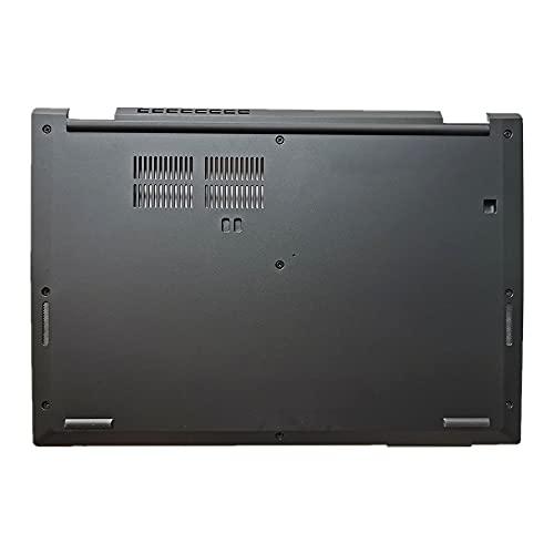 fqparts Cubierta Inferior de la Caja del Ordenador portátil D Shell para Lenovo ThinkPad L390 L390 Yoga Color Negro