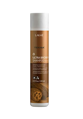 LAKME Teknia Ultra Brown Shampoo, 3.5 Fl Oz