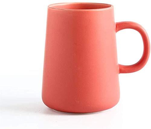 GJJSZ Keramik Kaffeetasse Keramiktasse Kreatives Zuhause Keramik Tasse Büro Wasser Tasse Kreatives Geburtstagsgeschenk(Farbe: Rot,Größe: 9 * 11,7 cm)