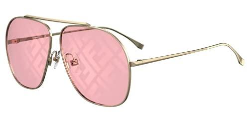 Fendi FF FAMILY FF 0407/G/S Gold/Pink 64/11/135 women Sunglasses