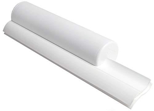 Cleret Elite Squeegee, Abzieher für Duschkabinen mit zweifacher Gummilippe - Weiß, 25 cm lang