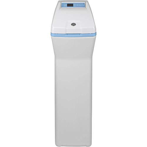 GE Appliances SMART 40,000 Grain, GXSHC40N, Remote Shutoff, Flow Alerts, Low Reminders, Adjustable Softness, Salt Saving Technology, Gray Water Softener