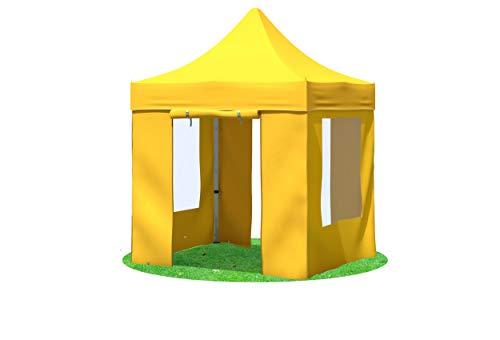 31V5+GkYDVL - Stabilezelte Faltpavillon 2x2 Meter Professional mit Fensterseiten gelb