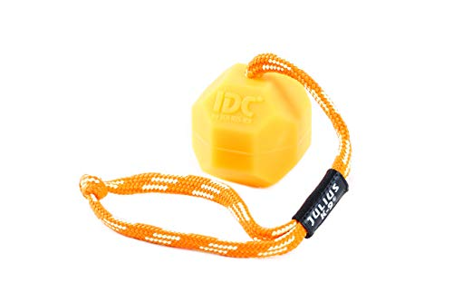 Julius K9 242-BLL-60-ORW Fluorescens Ball with String Diam.60mm - Smooth, Orange, Soft, Un tamao