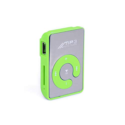 Dongtu MP3 Player Mini Fashion Clip Sport USB Micro SD TF Mirror C Button MP3 Music Media Player (Green)