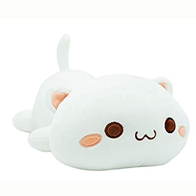"""Cute Kitten Plush Toy Stuffed Animal Pet Kitty Soft Anime Cat Plush Pillow for Kids (White A, 20"""") from Onsoyours"""