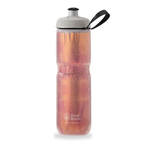 Polar Bottle Sport Insulated Water Bottle - BPA-Free, Sport & Bike Squeeze Bottle with Handle (Fly Dye - Blood Orange, 24 oz)